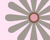 Retro flower background composed of large grey flower and a pink background poster