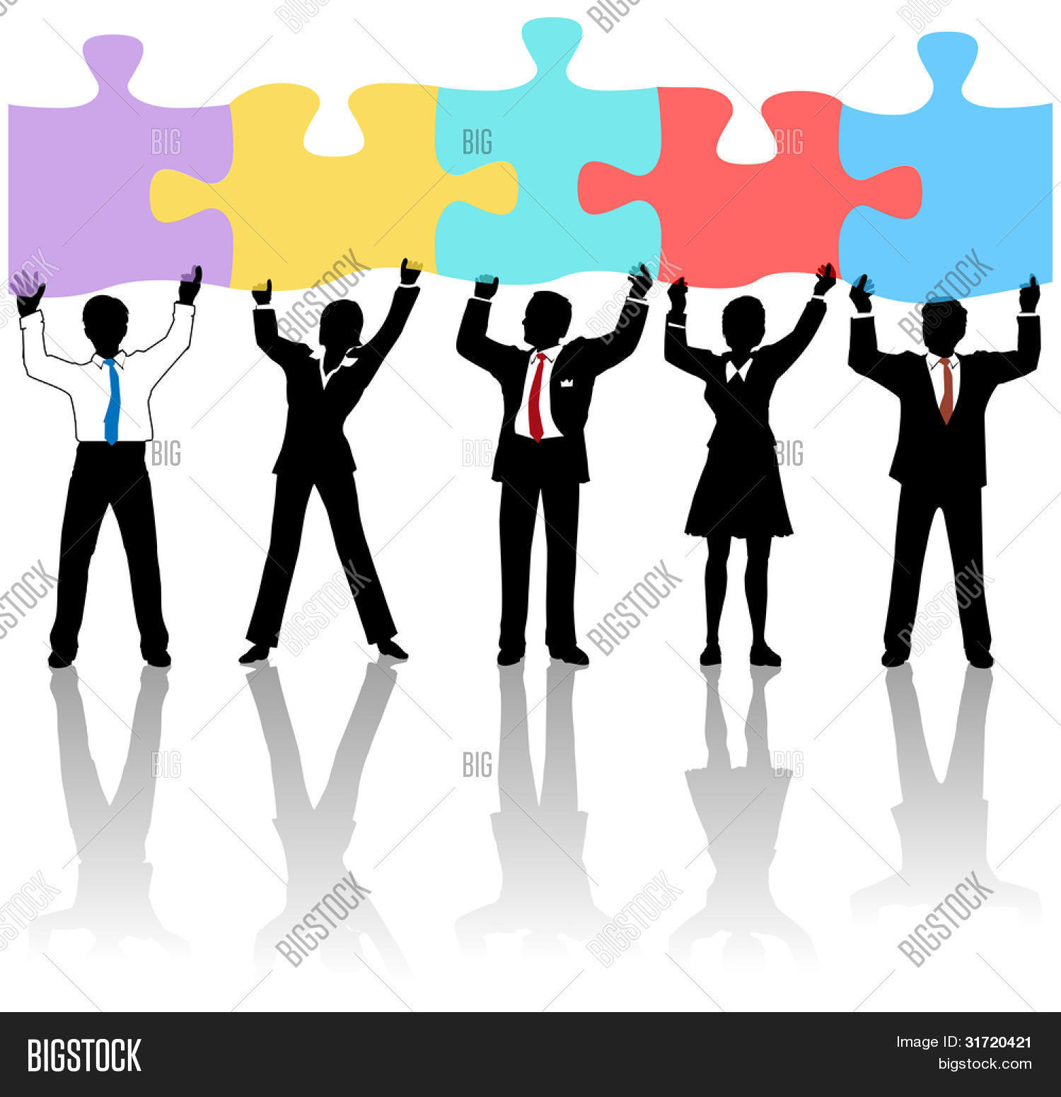 Team Business People Vector Photo Free Trial