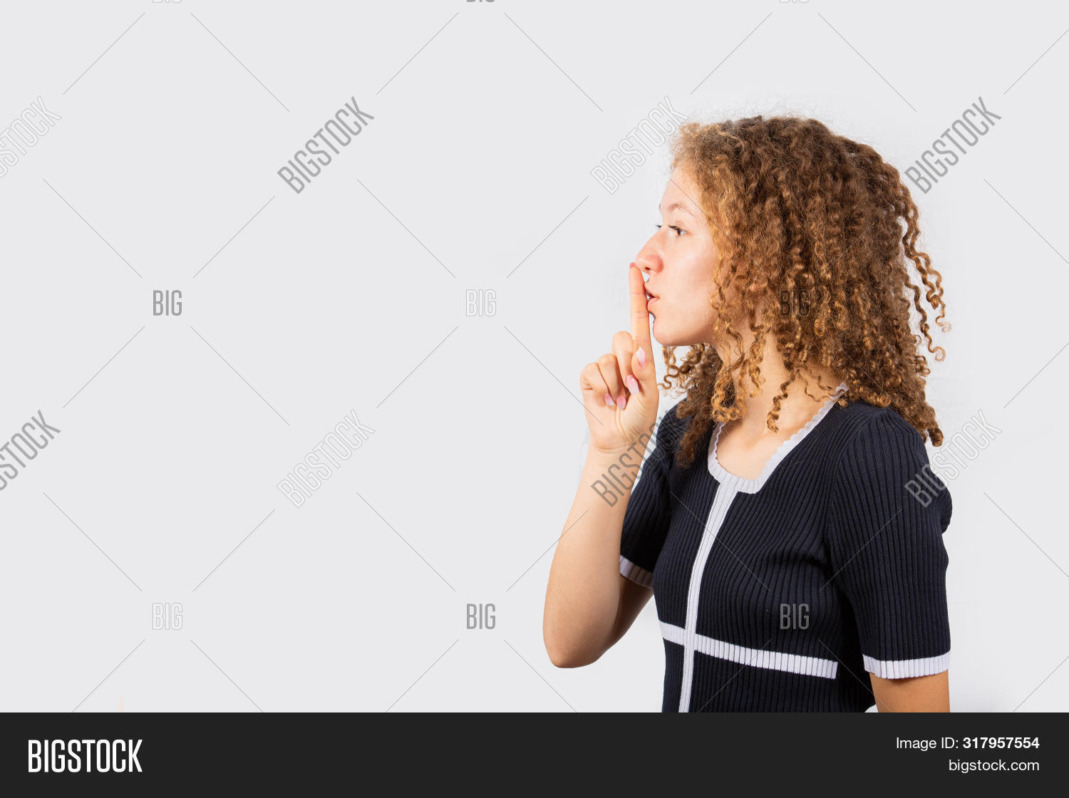 Serious Young Girl Image Photo Free Trial Bigstock