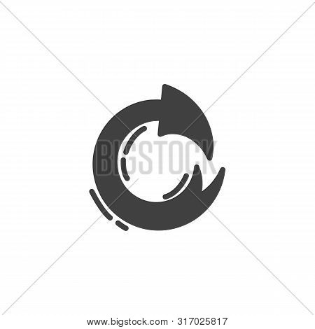 Refresh Arrow Vector Icon. Filled Flat Sign For Mobile Concept And Web Design. Redo Arrow Glyph Icon