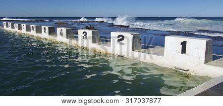 Starting Blocks At The Ocean Salt Water Pool, Merewether, Newcastle, Nsw, Australia.