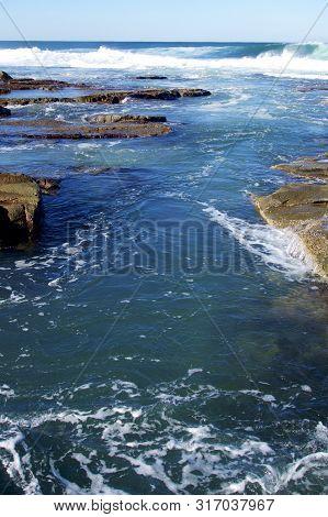 Coastline At Merewether Beach, Newcastle, Nsw, Australia
