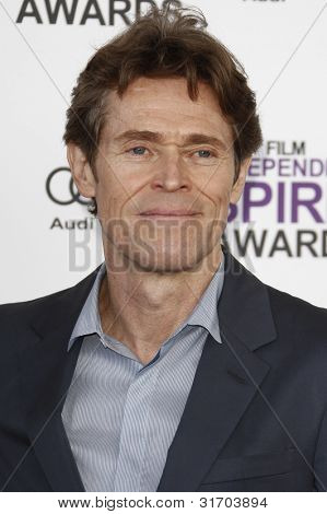 SANTA MONICA, CA - FEB 25: Willem Dafoe at the 2012 Film Independent Spirit Awards on February 25, 2012 in Santa Monica, California