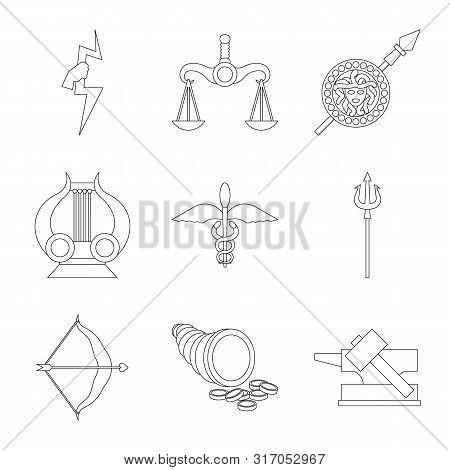 Vector Illustration Of Mythology And God Icon. Collection Of Mythology And Culture Stock Vector Illu