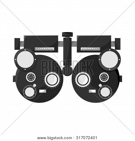 Isolated Object Of Gadget And Optometrist Sign. Collection Of Gadget And Check Stock Symbol For Web.