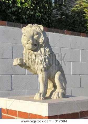 Lion Statue Closeup