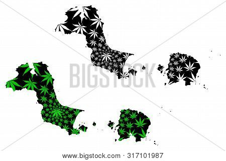 Bangka Belitung Islands (subdivisions Of Indonesia, Provinces Of Indonesia) Map Is Designed Cannabis