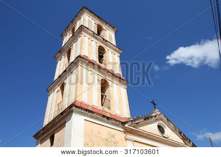 Church Of The Good Voyage (iglesia Del Buen Viaje) In Remedios, Cuba.