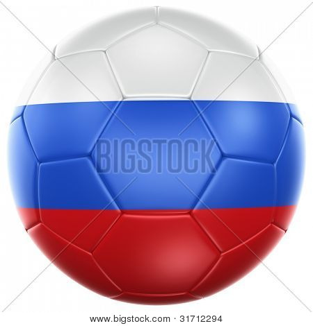 3d rendering of a Russian soccer ball isolated on a white background