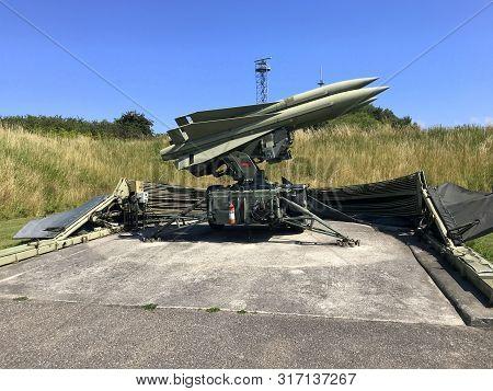Rodvig Stevns, Seeland, Denmark - July 18, 2019: Surface To Air Missile (sam) Type Raytheon Mim-23 H