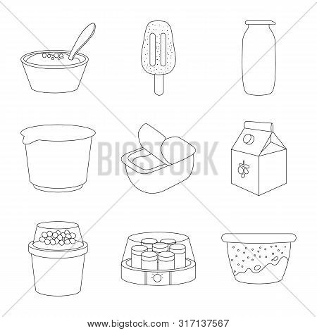 Vector Design Of Calcium And Food Sign. Collection Of Calcium And Product Stock Symbol For Web.