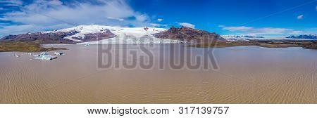 Vatnajokull Glacier, Vatnajokull National Park. Iceland's Largest Glacier.