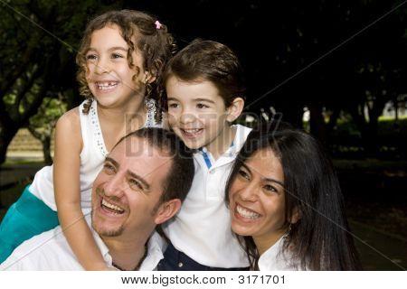 Beautiful Family Enjoying