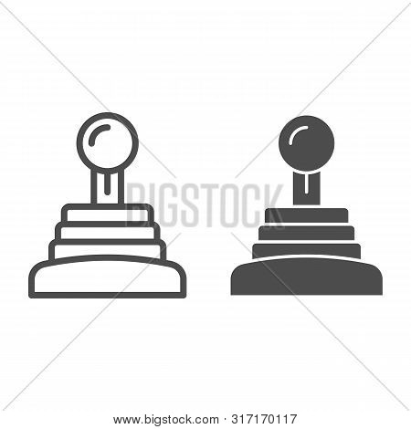 Gearbox Line And Glyph Icon. Speed Shifter Vector Illustration Isolated On White. Manual Gearbox Out