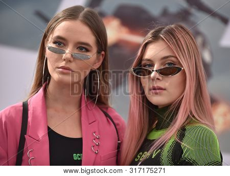 LOS ANGELES - JUL 13:  Bahari (Ruby Carr and Natalia Panzarella) arrives for the 'Fast & Furious Presents: Hobbs and Shaw' World Premiere on July 13, 2019 in Hollywood, CA
