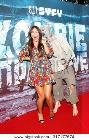 LOS ANGELES - AUG 12: Tatum Chiniquy, Water Zombie at the Premiere Of SyFy's