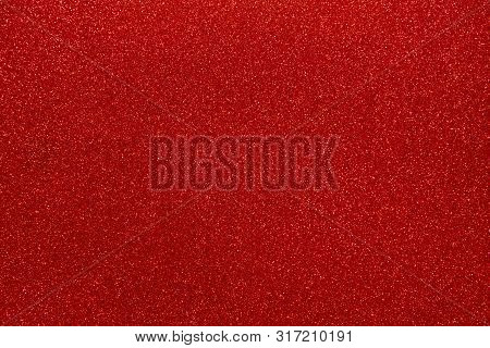 Red Glitters. Abstract Shiny Background. Scarlet Design Paper Texture For Decoration And Design Of C