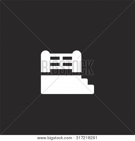 Boxing Ring Icon. Boxing Ring Icon Vector Flat Illustration For Graphic And Web Design Isolated On B