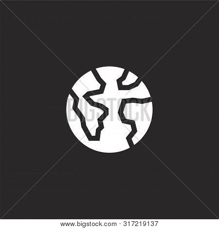 Astronomy Icon. Astronomy Icon Vector Flat Illustration For Graphic And Web Design Isolated On Black