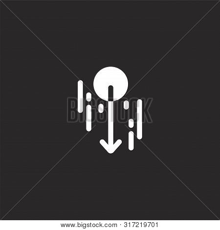 Potential Energy Icon. Potential Energy Icon Vector Flat Illustration For Graphic And Web Design Iso
