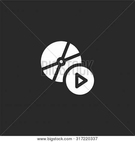 Compact Disc Icon. Compact Disc Icon Vector Flat Illustration For Graphic And Web Design Isolated On
