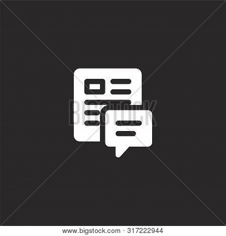 Blog Icon. Blog Icon Vector Flat Illustration For Graphic And Web Design Isolated On Black Backgroun