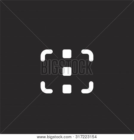 Focus Icon. Focus Icon Vector Flat Illustration For Graphic And Web Design Isolated On Black Backgro
