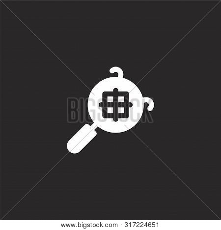 Sieve Icon. Sieve Icon Vector Flat Illustration For Graphic And Web Design Isolated On Black Backgro