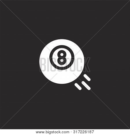 Pool Icon. Pool Icon Vector Flat Illustration For Graphic And Web Design Isolated On Black Backgroun