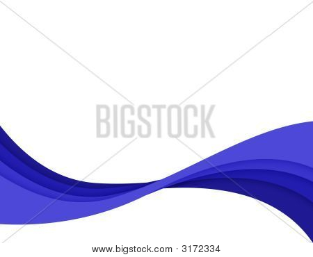 Blue Abstract Swirl