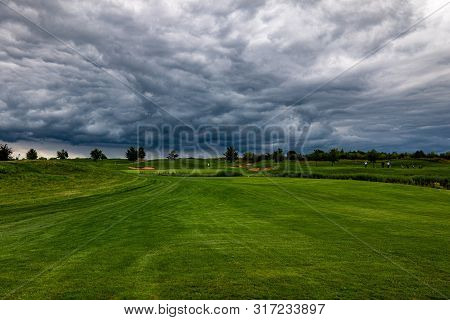 A Picturesque Golf Course For Sports Recreation.