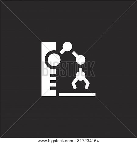 Robotic Arm Icon. Robotic Arm Icon Vector Flat Illustration For Graphic And Web Design Isolated On B
