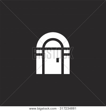 Antique Icon. Antique Icon Vector Flat Illustration For Graphic And Web Design Isolated On Black Bac