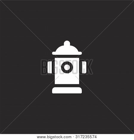 Hydrant Icon. Hydrant Icon Vector Flat Illustration For Graphic And Web Design Isolated On Black Bac