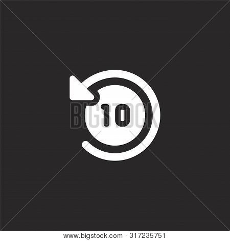 Timer Icon. Timer Icon Vector Flat Illustration For Graphic And Web Design Isolated On Black Backgro