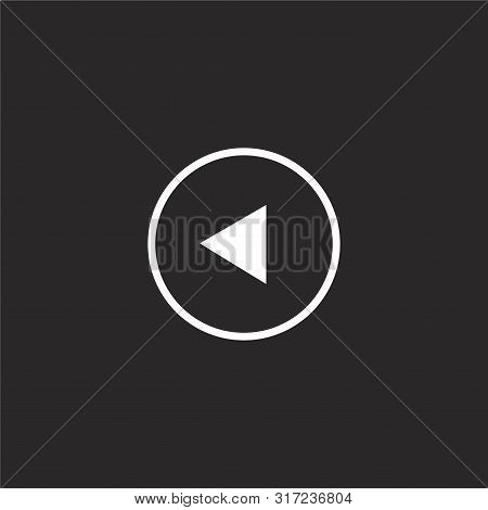 Restart Icon. Restart Icon Vector Flat Illustration For Graphic And Web Design Isolated On Black Bac