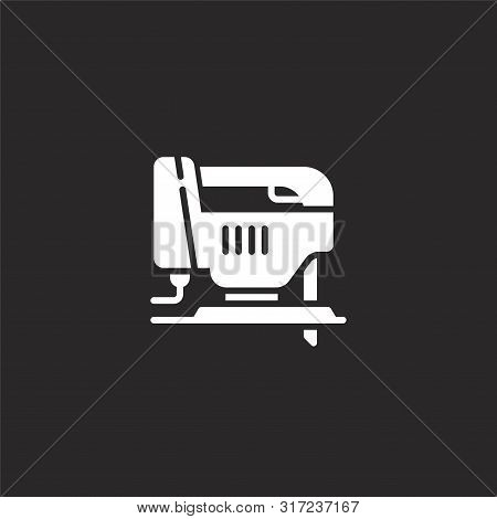 Jigsaw Icon. Jigsaw Icon Vector Flat Illustration For Graphic And Web Design Isolated On Black Backg