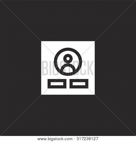 Login Icon. Login Icon Vector Flat Illustration For Graphic And Web Design Isolated On Black Backgro