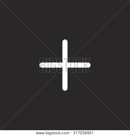 Plus Icon. Plus Icon Vector Flat Illustration For Graphic And Web Design Isolated On Black Backgroun