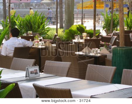 Outdoor Tropical Restaurant