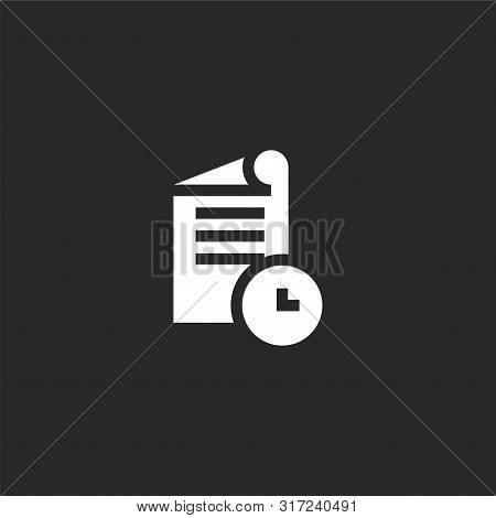 Drafts Icon. Drafts Icon Vector Flat Illustration For Graphic And Web Design Isolated On Black Backg