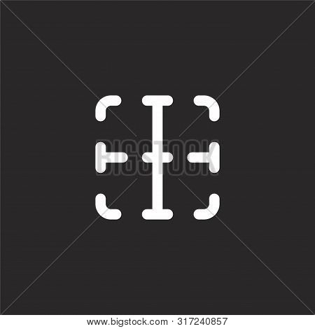 Inside Icon. Inside Icon Vector Flat Illustration For Graphic And Web Design Isolated On Black Backg