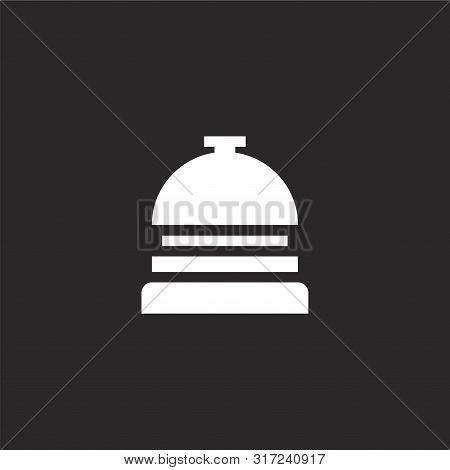 Reception Bell Icon. Reception Bell Icon Vector Flat Illustration For Graphic And Web Design Isolate