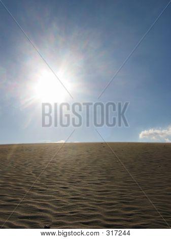 Hot Sun In Desert