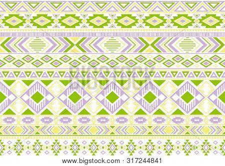 Gypsy Pattern Tribal Ethnic Motifs Geometric Seamless Background. Rich Gypsy Tribal Motifs Clothing