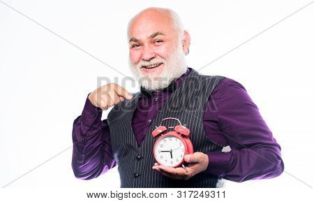 Lifetime Ageing And Getting Older. Senior Man White Beard. Senior Timekeeper. Counting Time. Time Do