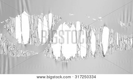 Grey Torn Fabric 3d Render Image Background