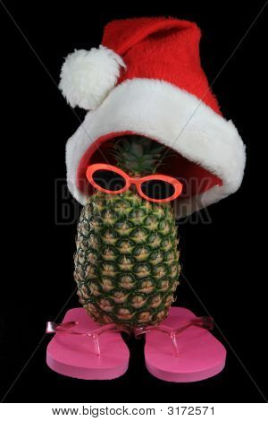 Santa Hat Pineapple