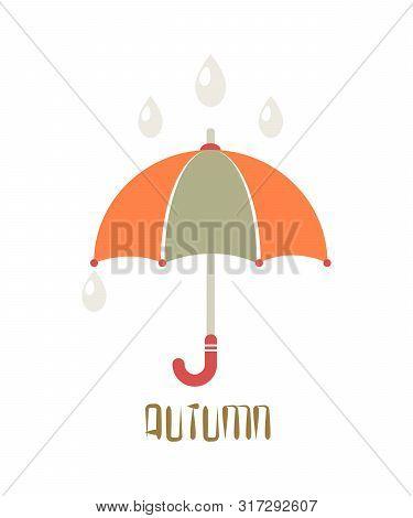 Isolated Vector Image With Elements Symbolizing Autumn. Eps 10