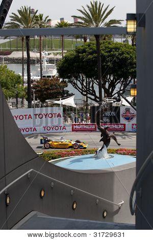 LONG BEACH - APRIL 17: Ryan Briscoe driver of the #6 Penske Truck Rental Team Penske Dallara Honda during the IndyCar Series Toyota Grand Prix on April 17 2011 in Long Beach.